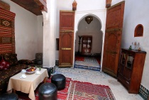 Photo of Dar Jnane, Entry to First Floor Bedroom, Fes, Morocco